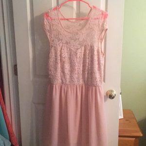 Light pink semi-formal dress